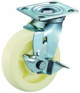 4/5/6/8 Inch Heavy Duty Side Brake Nylon Caster pictures & photos