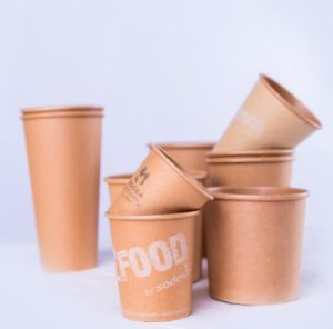8oz Disposable Kraft Coffee Cup with Lid pictures & photos