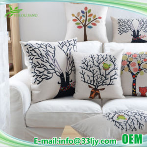 Cotton Linen Square Pillow Cover 18X18 for Chair pictures & photos