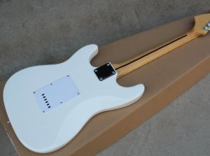 Hanhai White St Electric Guitar with Big Headstock and Scalloped Neck pictures & photos