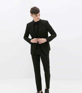 2017 Navy Business Suits, Notch-Lapel Custom Men Suit pictures & photos