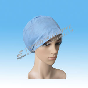 PP Nonwoven Machine Made Surgical Caps with Tie on pictures & photos