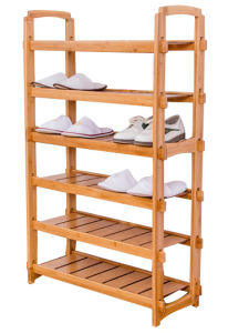 6 Tiers Bamboo Shoes Rack Bamboo Shoes Storages Shelves pictures & photos