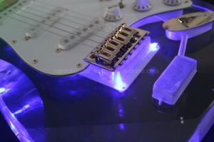 Hanhai Music/St Style Acrylic Glass Electric Guitar Wtih LED Light pictures & photos