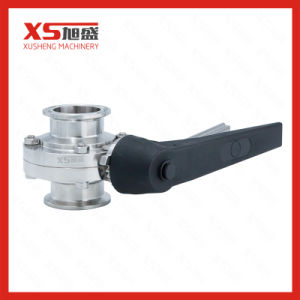 3A Stainless Steel Sanitary Hygienic Tri Clamp Butterfly Valve pictures & photos