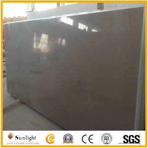 Black/Grey Artificial Solid Surface Quartz Stone for Countertops pictures & photos