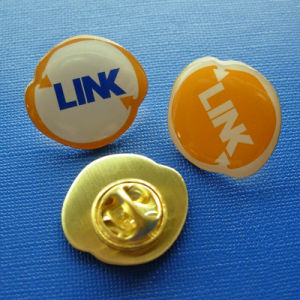 Offset Printing Epoxy-Dripping Badge, Round Lapel Pin (GZHY-OP-004) pictures & photos