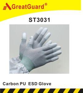 Carbon PU Top Fit Glove (ST3031) pictures & photos