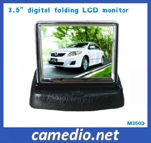 3.5inch Digital Folding Car Rear View Monitor with 2 AV Inputs pictures & photos