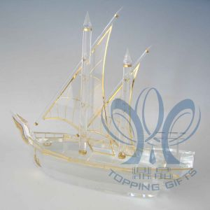Large Dhow (Crystal and Gold)