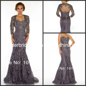 3/4 Sleeves Bolero Mermaid Mother Dress Lace Evening Gowns M14410 pictures & photos