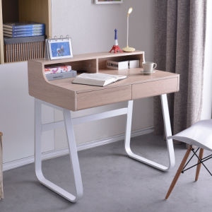 Home Office Laptop Table for Writing Workstation in Wooden Modern Shape pictures & photos