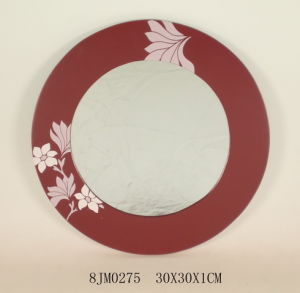 Wooden Round Mirror (8JM0275)