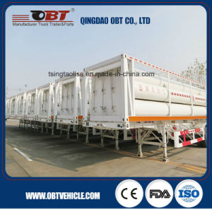 3 Axle 40 Cbm CNG Tube Container Truck Semi Trailer pictures & photos