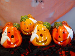 Cute Christmas Ceramic Pumpkins