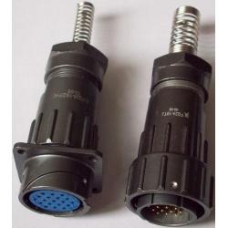 Fq24-19t/Z Connector, 19 Pins, Waterproof IP67, M24 Plug/Receptacle