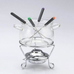 Fondue Set with Glass Pot (BL-56)