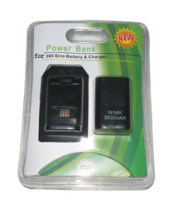 Battery and Charger or Power Bank for xBox360 Slim (HYS-SX027B)