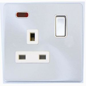 Screwless Range Single Switch Socket with Neon pictures & photos