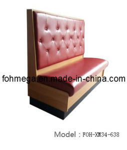 Modern Coffee Shop Single Side Leather Sofa Booth (FOH-XM34-638) pictures & photos