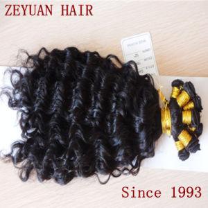 Short Curly Brazilian Human Hair Weave Virgin Remy Brazilian Hair (ZYWEFT-270) pictures & photos