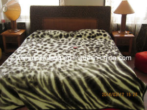 Printing Knitted Korean Raschel Mink 100% Acrylic Blanket pictures & photos