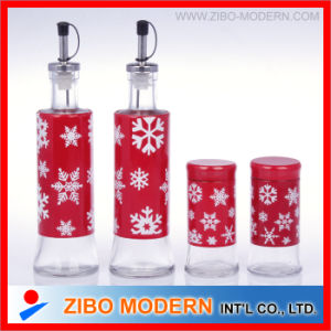 High Clear Glass Condiment Bottle Set pictures & photos