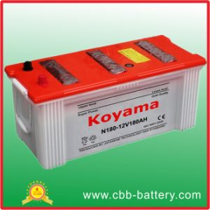 12V 180ah Dry Charge Car Battery for Boat, Truck, Generator pictures & photos