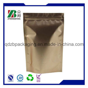 Custom Zip Lock Aluminum Foil Bag with Window pictures & photos