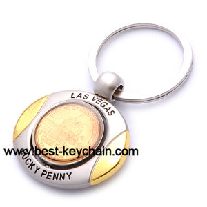 Lucky Souvenir USA Golden Las Vegas Metal Key Chain (BK52634) pictures & photos