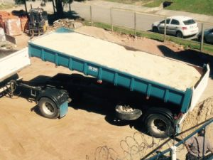 10cbm 2 Axle Full Truck Trailer pictures & photos