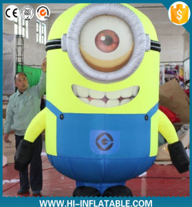 Cheap Advertising Inflatable Minion Model/ Inflatable Moving Cartoon/Mascot pictures & photos