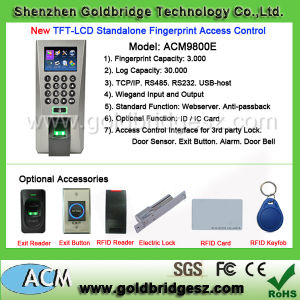 2015 Hot New Products TFT-LCD Standalone Fingerprint Access Control System