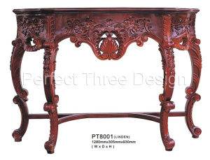 Hand Carved Wooden Table (PT8001)