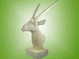 Wooden Carving Gemsbok Head Decoration (EF-8453)