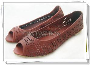 Fashion Caved Flowers Women Peep Toe Flat Shoes A135701740