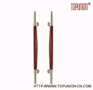 304 Stainless Steel Wooden Pull Handle (TU-349) pictures & photos