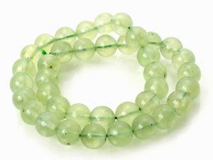 12mm Round Prehnite Gemstone Loose Beads
