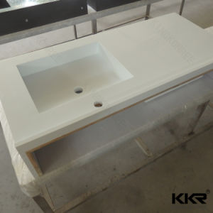 Building Material Quartz Stone Bathroom Vanity Top for Hotel Project pictures & photos
