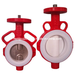 Split Body PTFE Butterfly Valve with Corrosion Resistance pictures & photos