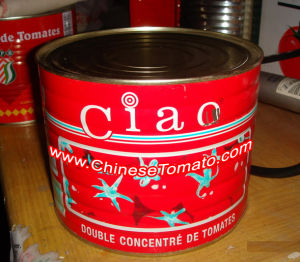 China Hot Sell No Additive Canned Tomato Paste Size 70g pictures & photos