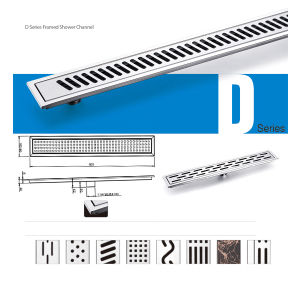 304stainless Steel Brush Nickel Rectangle Floor Drain (SL-90009005D)