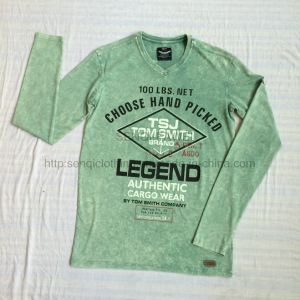 Man Green Premium Burnout Washing Sweatshirt in Sport Knit Wear Jumper Clothes Fw-8668 pictures & photos