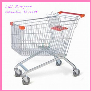 240L Lagre Herringbone Supermarket Shopping Trolley