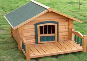 China Wooden Dog House Pet Bed with Balcony (CL-105 ...