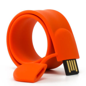 Silicone Wrist USB PVC Slap USB Drive Wristband USB pictures & photos