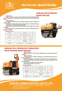 Hand Guided Road Roller, Powerful Mini Road Roller 0.5 Ton (JMS05H) pictures & photos