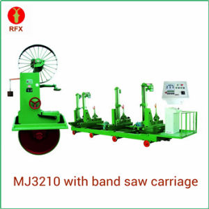 Electric Log Cutting Band Saw with Carriage (MJ3210) pictures & photos