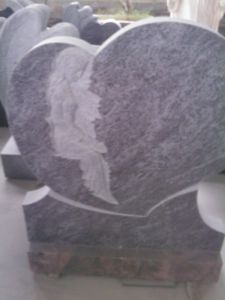 Granite Headstone for Heart with Orion Vizag Blue