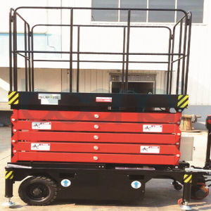 6m Hydraulic Electric Self Propelled Scissor Lift Table Cargo Lift pictures & photos